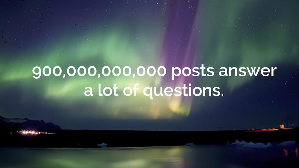 900 billion posts